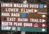 Trail and Lift signs on Mountain
