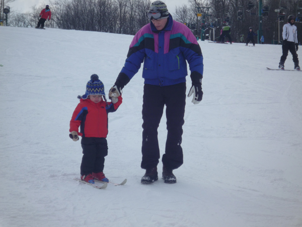 Nathan's First Day on Skis.