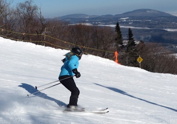 A skier enjoys the ideal conditions during a day at Mont-St-Anne, 30 minute drive north of Quebec City.
