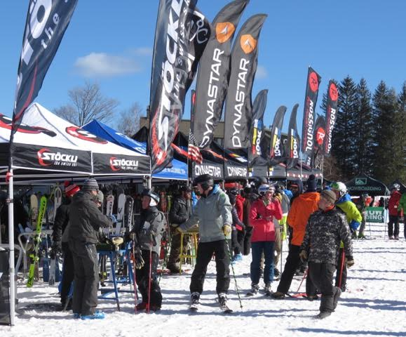 Ski Shop staff choose products to test, including skis, poles, boots, helmets and goggles