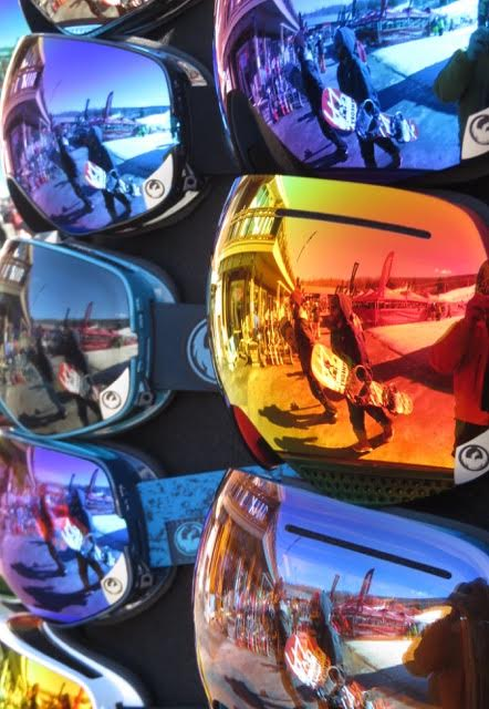 Skiers and Riders try new goggles with a variety of lens colors and shades