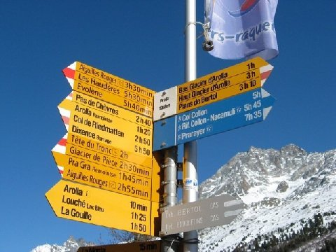 Mountain Sign Post