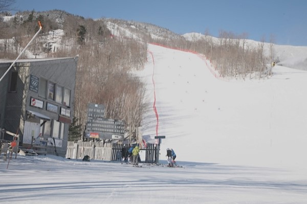 Finish Area for Olympians racing on Whiteface Mt