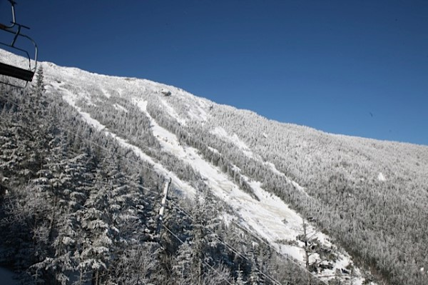 Famed Whiteface Mt Slides at Summit that are sometimes skiable during the Spring Season